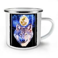 Moon Wolf Beast NEW Enamel Tea Mug 10 oz | Wellcoda