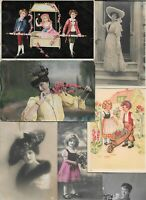 Victorian Style Female and Kids Theme And More Postcard Lot of 20 01.13