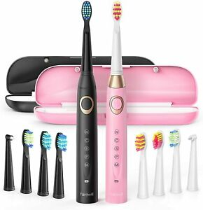 Fairywill Dual Sonic Electric Toothbrushes for Adults & Teens - 10 Brush...