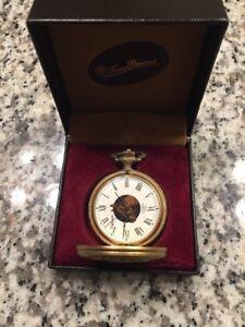 Vintage Dufonte Lucien Piccard Swiss 17 Jewels Pocket Watch! Original Box!