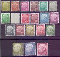 Bund 1954 - Theodor Heuss - MiNr. 177/196 ungebraucht* - Michel 110,00 € (694)