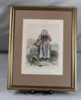 Kostüm Grafik - Austernfischerin in Cancale wohl nach Litho von Lalaisse  /S349