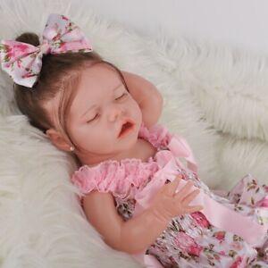 """Cute 17"""" Reborn Baby Dolls Newborn Babies Doll Soft Vinyl Silicone Newborn Doll"""