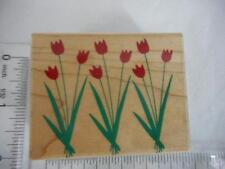 HERO ART Tulip Bouquet E2360 Wood Mount Rubber Stamp 2002 Spring Flower Art Deco