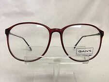 Vintage Gant Classic Eyeglass Frames G355 Wine Plastic Round Retro Burgundy
