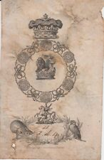 EX-LIBRIS - BOOKPLATE AUGUSTUS-FREDERICK, DUC DE SUSSEX (1773-1843) ANGLETERRE.