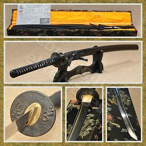 Ryujin 1095/T10 Steel Hand Forged Clay Tempered Samurai Katana Sword Live Blade
