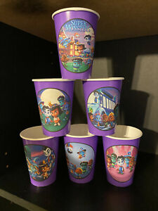 Super Monsters Birthday Party Pack 24 CUPS & Plates with labels