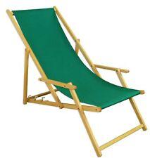 Chaise Longue Vert Lit Soleil Transat pour Jardin Bois Relaxliege Hêtre 10-304 N