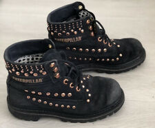 Caterpillar Black Rose Gold Studded Boots. Size 5