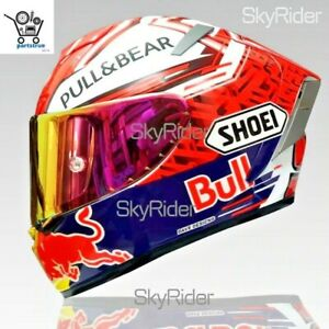 X14 Spirit Motorcycle  Full Face Helmet marquez Pullbearr Red Bull Marc Riding