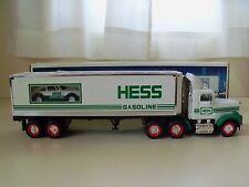 1992 HESS TOY TRUCK - 18 WHEELER AND RACER (PORSCHE) - NEW IN BOX