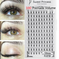Pro SKONHED 12 Rows 10D Premade Volume Fans Individual Extension Thick Eyelashes
