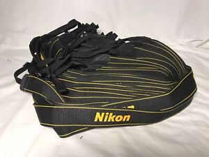 Lot of 25 NIKON AN-DC3 CAMERA NECK STRAPS Black / Yellow Genuine, OEM, New