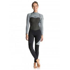 Roxy Womens 3/2mm SYNCRO STEAMER Back Zip Surf Wetsuit New - ERJW103014 Grey