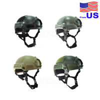 Airsoft Tactical Hunting MICH 2001 Combat Helmet with Side Rail & NVG Mount USA