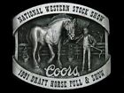 UC09137 *NOS* 1991 **COORS NAT'L WESTERN STOCK SHOW & DRAFT HORSE PULL** BUCKLE