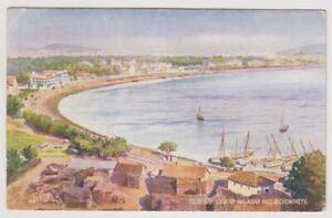 India postcard - Bombay, View of Malabar Hill & Chowpatty - P/U 1929 (A20)