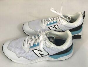 Men's NEW BALANCE FRESH FOAM 9 1/2 MENS MS515LC2 EW White with Blue Very Clean