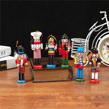 12cm Holz Soldaten Nussknacker Weihnachten Walnuss Hänge Anhänger Ornamente Heim