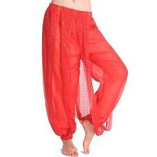 Sexy Belly Dance Chiffon Harem Pants for Dancing Tribal Dancer Costume Leggings