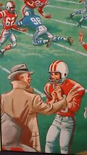 Vintage Whitman Jr. Jigsaw Puzzle Football Cheerleader 1960s Childrens Complete