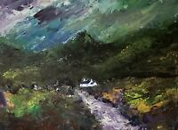 ORIGINAL PAINTING  Acrylic On Canvas  'Stormy Day Snowdonia' 40x30cm