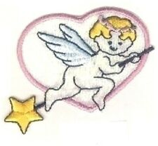 Flying Baby Cupid Angel Heart Embroidery Patch