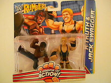 MATTEL WWE RUMBLERS ACTION FIGURES R-TRUTH & JACK SWAGGER
