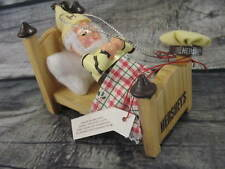 Hershey's Kurt S Adler Elf Sleeping in Bed Ornament Christmas Holiday
