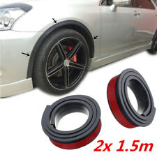 "2pcs 59"" Black Car Fender Panel Moulding Strip Rubber Wheel Arch Trim Universal"