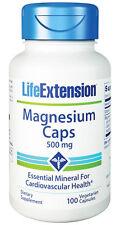 LIFE EXTENSION, MAGNESIUM CAPS 500mg - 100 Veg Capsules