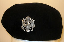 USAF US Air Force Female Officer Dress Blues Beret Shiney Cap Badge Insignia