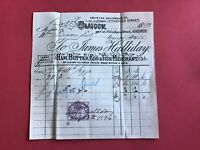 James Halliday Ham Butter Egg Fish Merchant 1893 Glasgow  receipt R33529