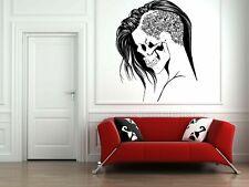 Wall Vinyl Sticker Decals Mural Room Design Scull Girl Skeleton Zombie bo627