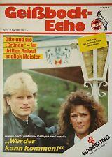 Programm 1987/88 1. FC Köln - Werder Bremen