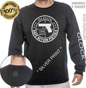GLOCK PERFECTION HANDGUN PISTOL T SHIRT - LONG SLEEVE  CUSTOM  UNISEX TEE