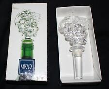 MIKASA Austrian crystal wine bottle stopper grapes FRUIT COLLECTION 16cm box vgc