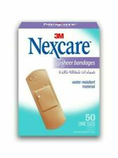 3M Nexcare Sheer Assorted Bandages 50's Water-Resistant Latex free