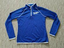 Euc Majestic Los Angeles Dodgers Women's 1/2 Zip Shirt Pullover Color Blue XL