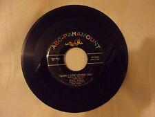"""45 RECORD - ABC-PARAMOUNT - PAUL ANKA - """"YOU ARE MY DESTINY"""" """"WHEN i STOP LOVING"""