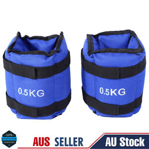 2Pcs 0.5kg Adjustable Ankle Weights Gym Equipment Wrist Fitness Yoga Workout JA