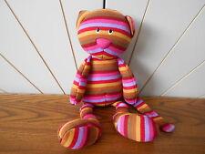 Tessuto a strisce Cat Beanie Giocattolo morbido, Peluche JellyCat Jelly Cat Jelly 1821 Rosa/Marrone