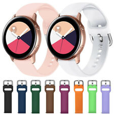 For Samsung Galaxy Watch 3 41mm Active 2 40 44 Silicone Sport Wrist Band Strap