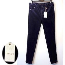 new M&S INDIGO Womens SKINNY Leg CORD JEANS ~ Size 8 Long ~ BLACKBERRY