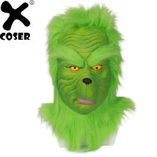 Grinch Mask Cosplay How the Grinch Stole Christmas Costume Adult Props XCOSER