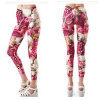 Terez Floral Rose Print Capri Leggings Size XS
