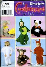 Toddler Costume Pattern - DRAGON, Mouse, Devil, Bear