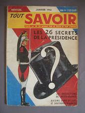 ► TOUT SAVOIR - N°8 - 1954 - NOSTRADAMUS - AMEDEE GORDINI