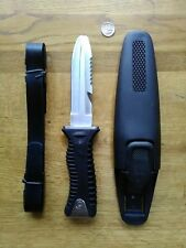 "Diving Knife Stainless Steel 4"" Blunt Tip Dive Knife STAINLESS STEEL"